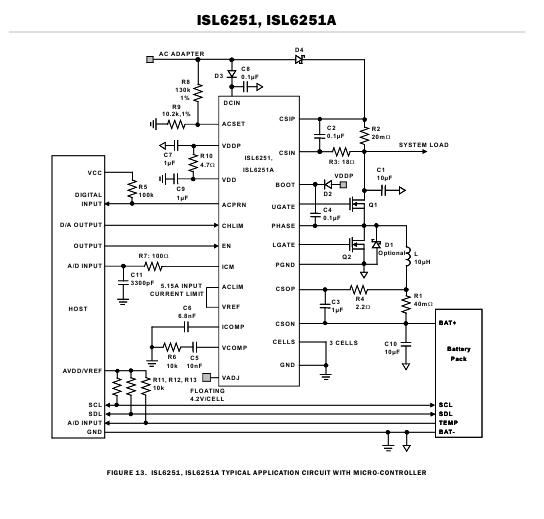 схема включения isl6251