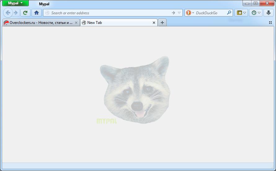 mypal - zaif netbuklar va Windows XP uchun brauzer